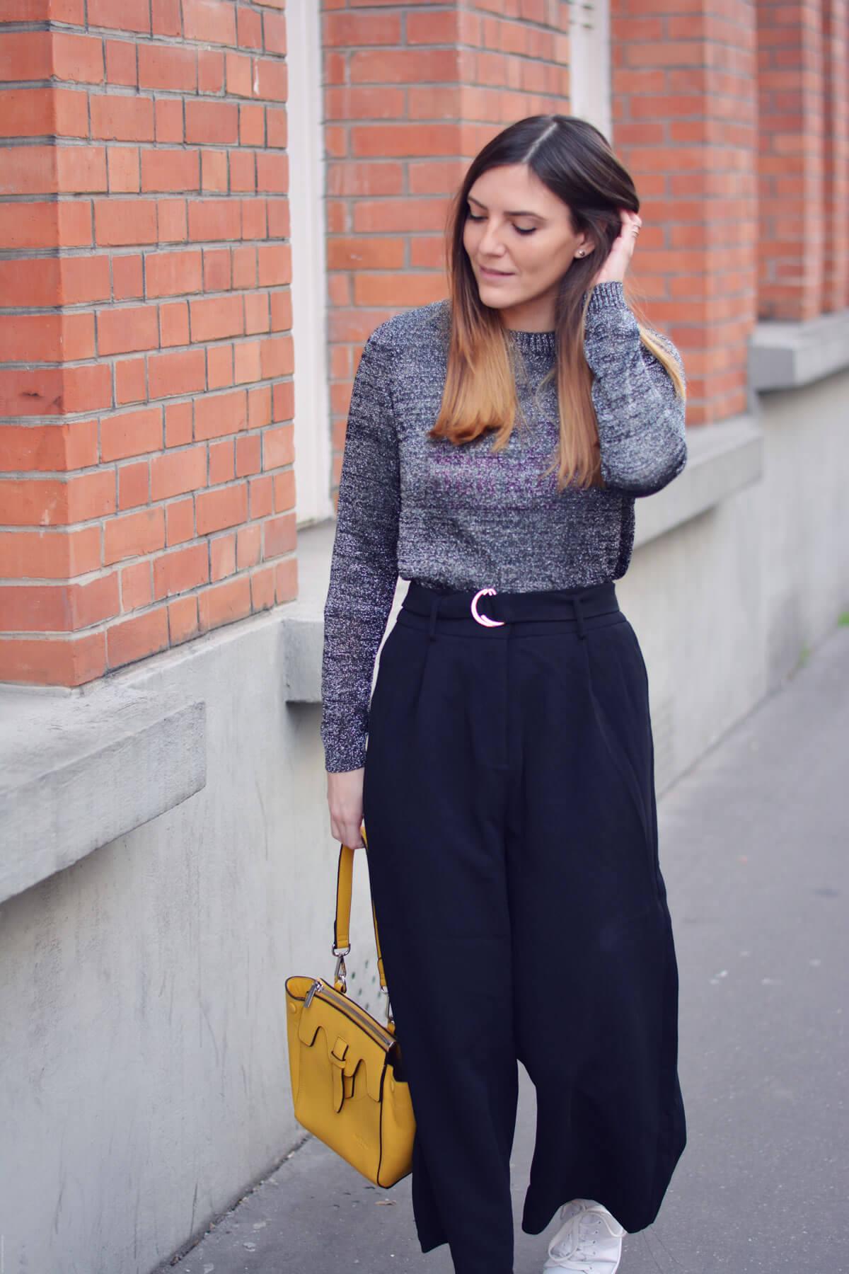 look avec une jupe culotte blog mode paris