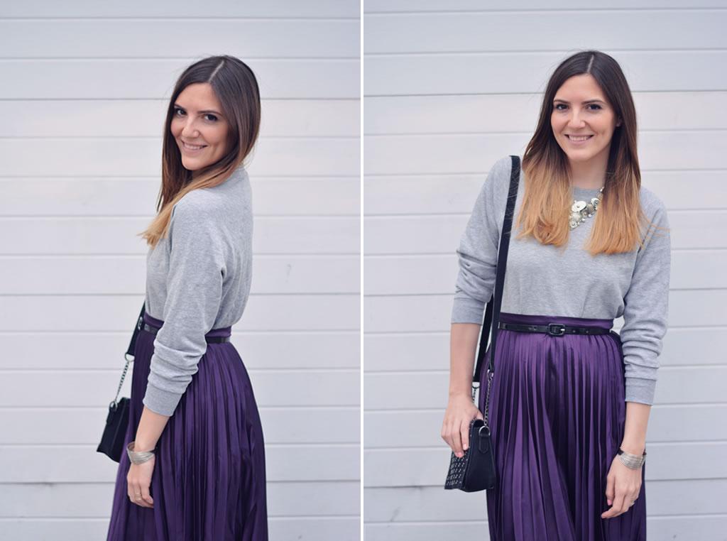 comment porter la jupe violette blog mode paris