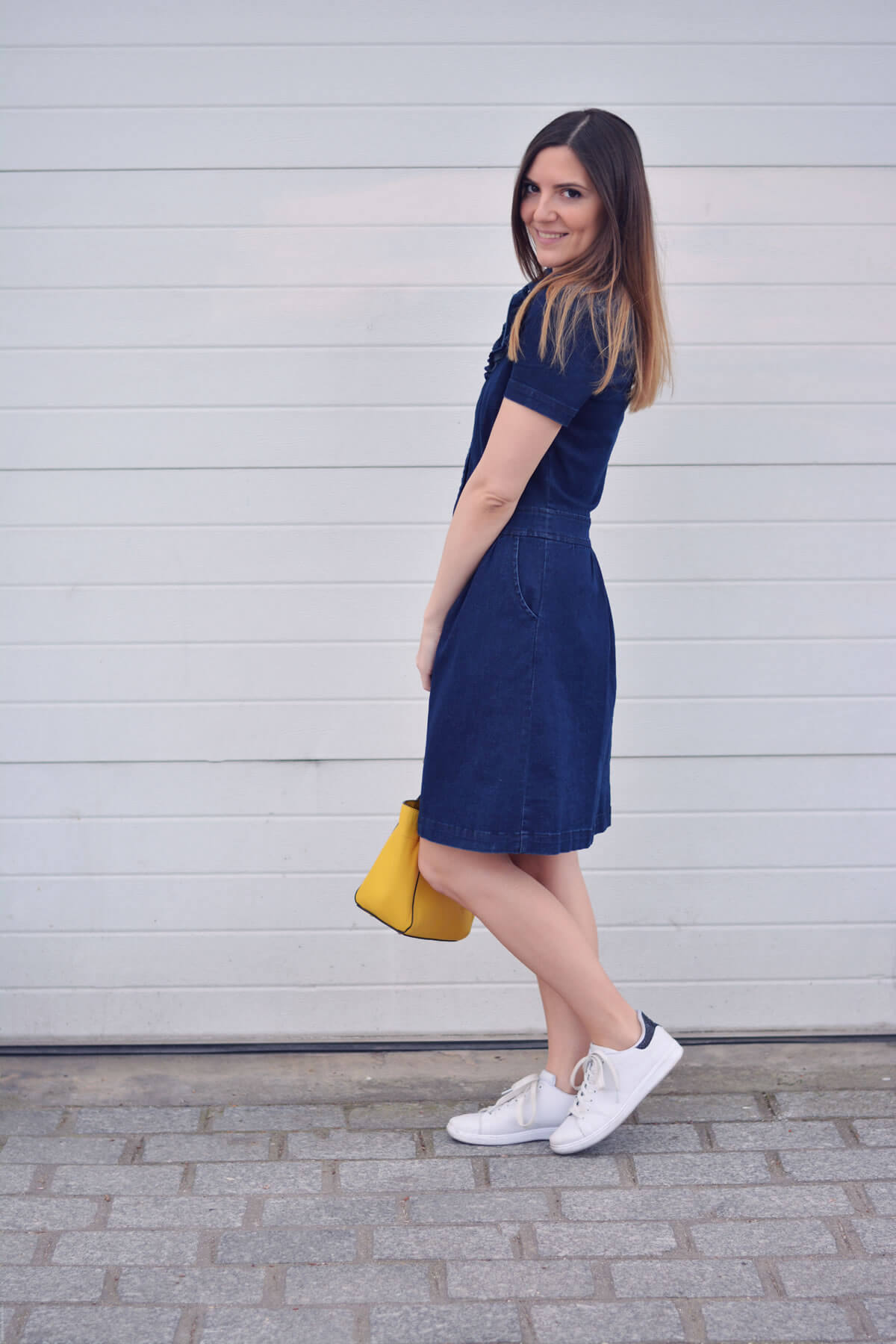 comment porter la robe en jean blog mode paris