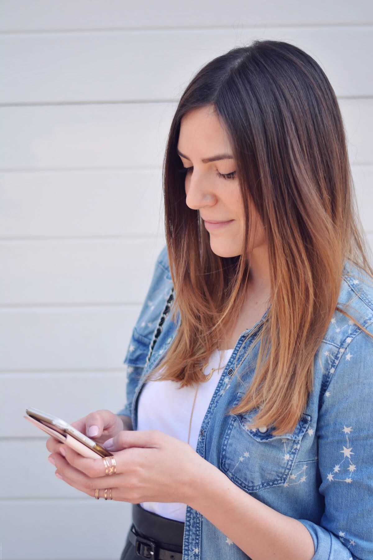 coque iphone rose avec miroir