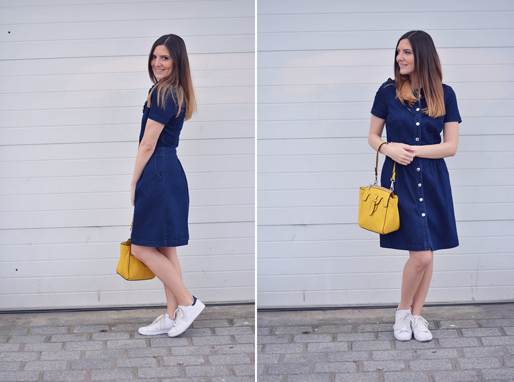 robe en jean nafnaf blog mode paris