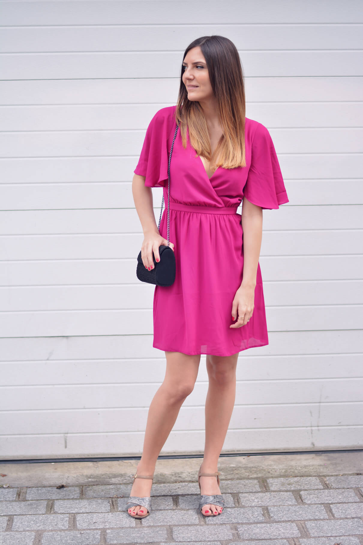 robe rose volants asos