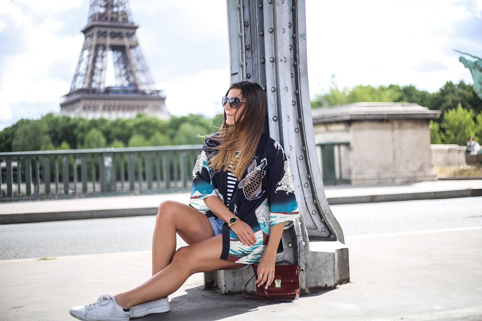kimono turquoise blog mode paris les caprices d iris