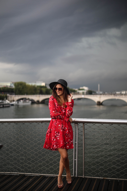robe fleurie rouge asos