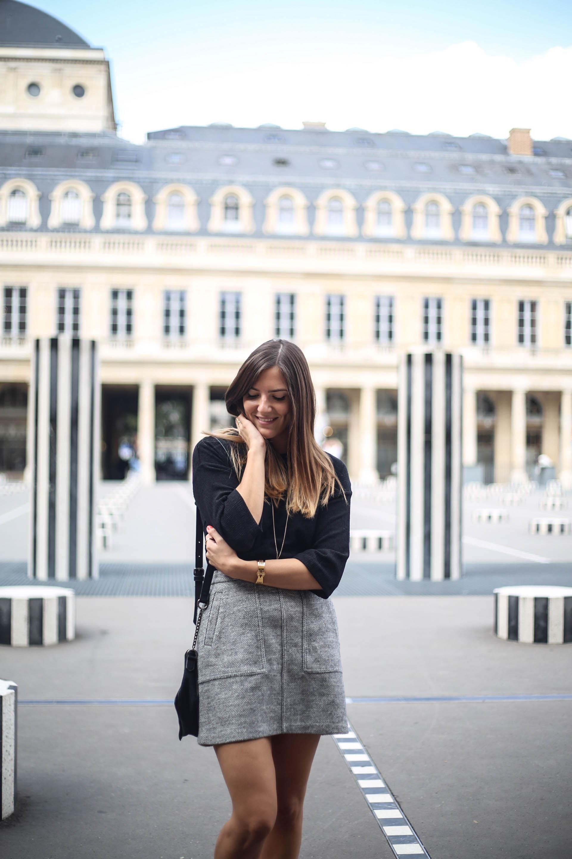 look avec une jupe grise blog mode les caprices d iris