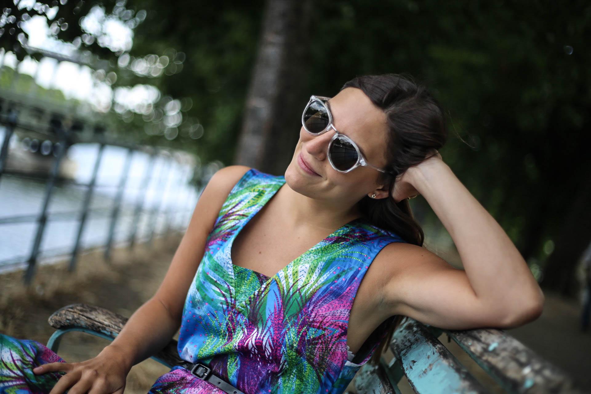 lunettes de soleil rondes