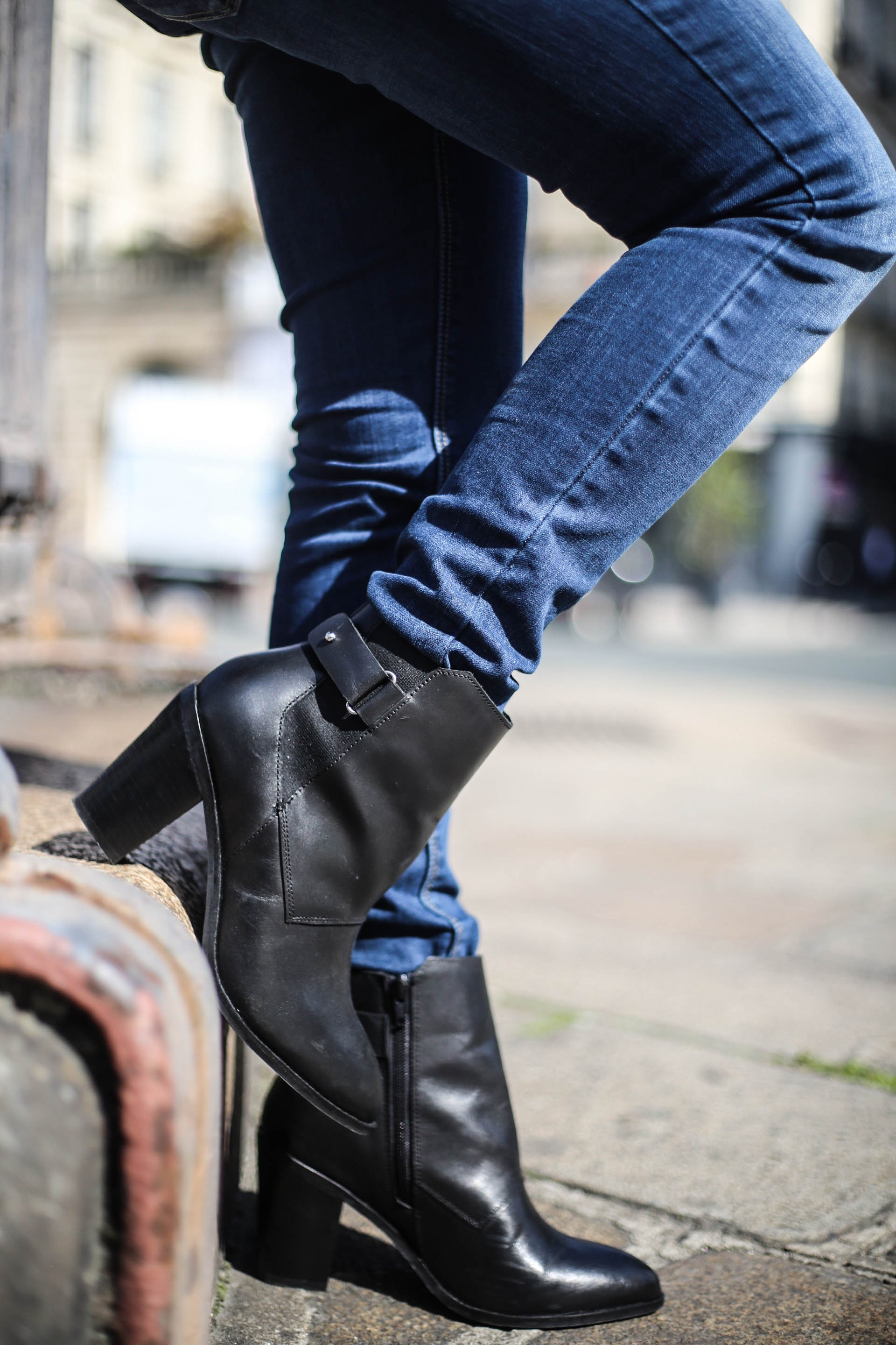 bottines talons simili cuir asos