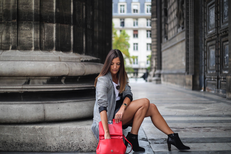 comment porter le sac rouge blog mode tendance