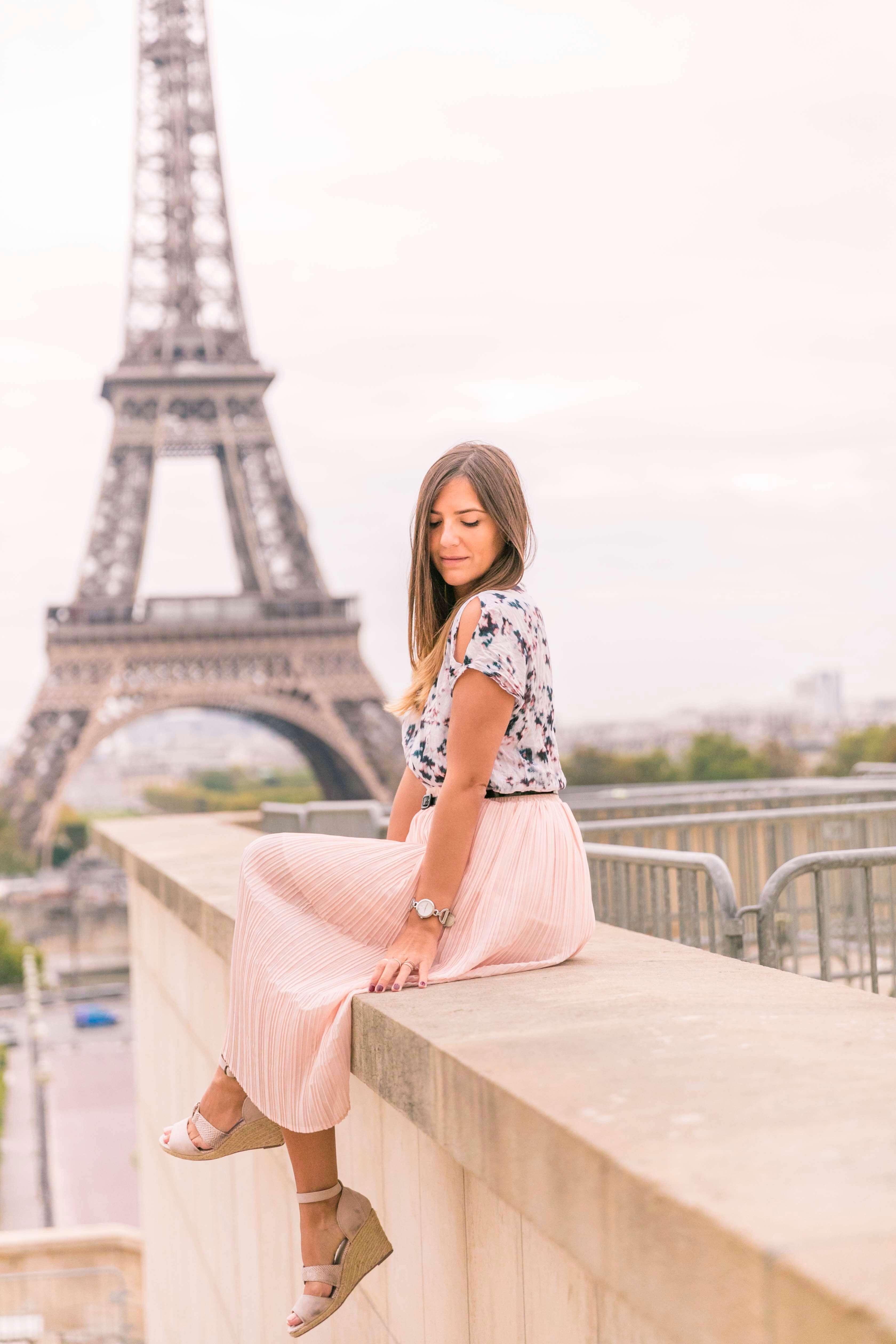 look romantique jupe plissee blog mode tendance