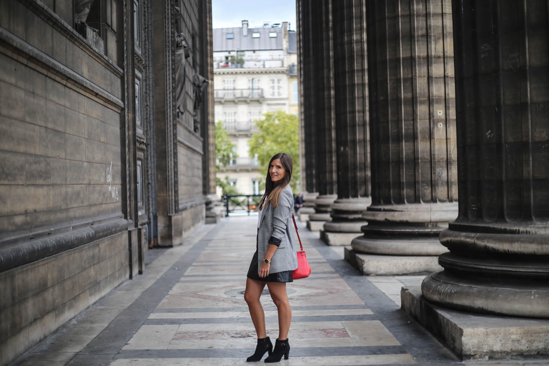 look tendance avec un blazer a carreaux pieds de poule blog mode tendance