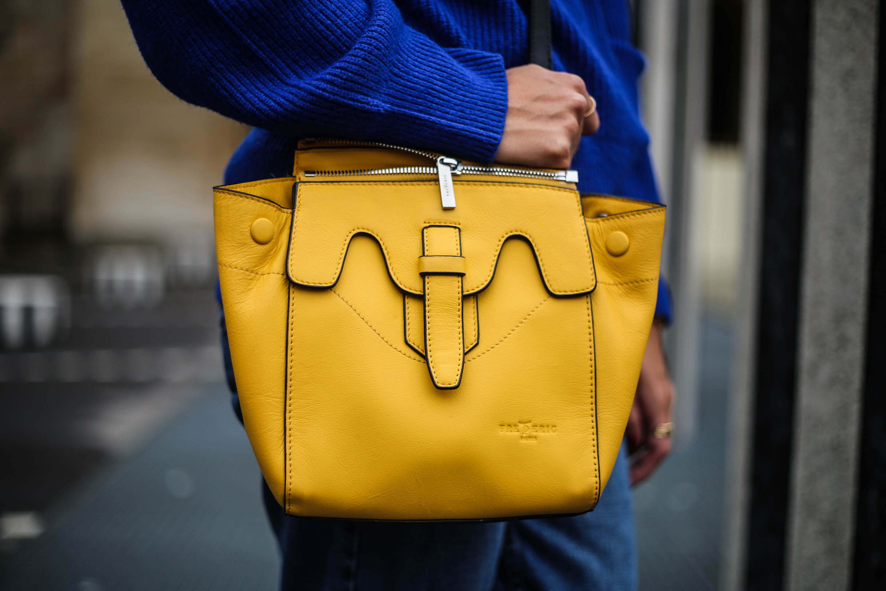 sac jaune en cuir blog mode paris