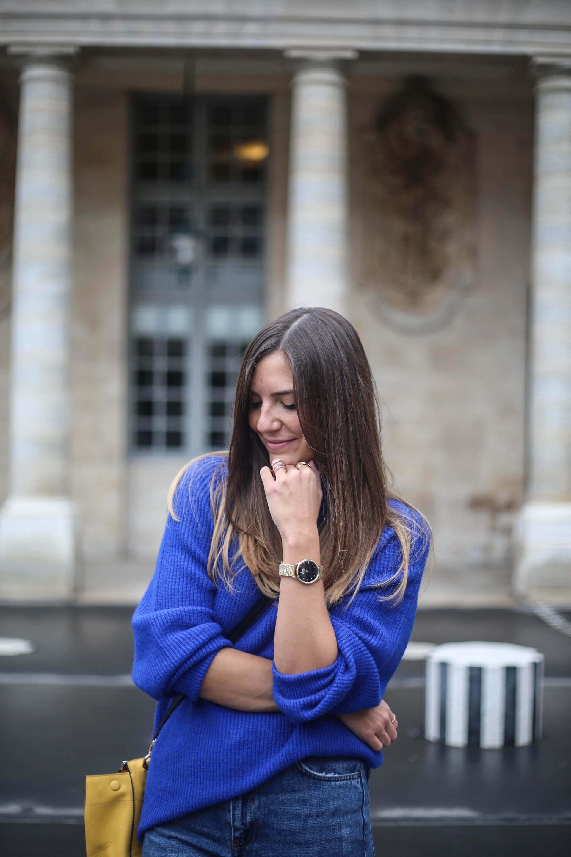 tendance avec un pull bleu pimkie blog mode paris