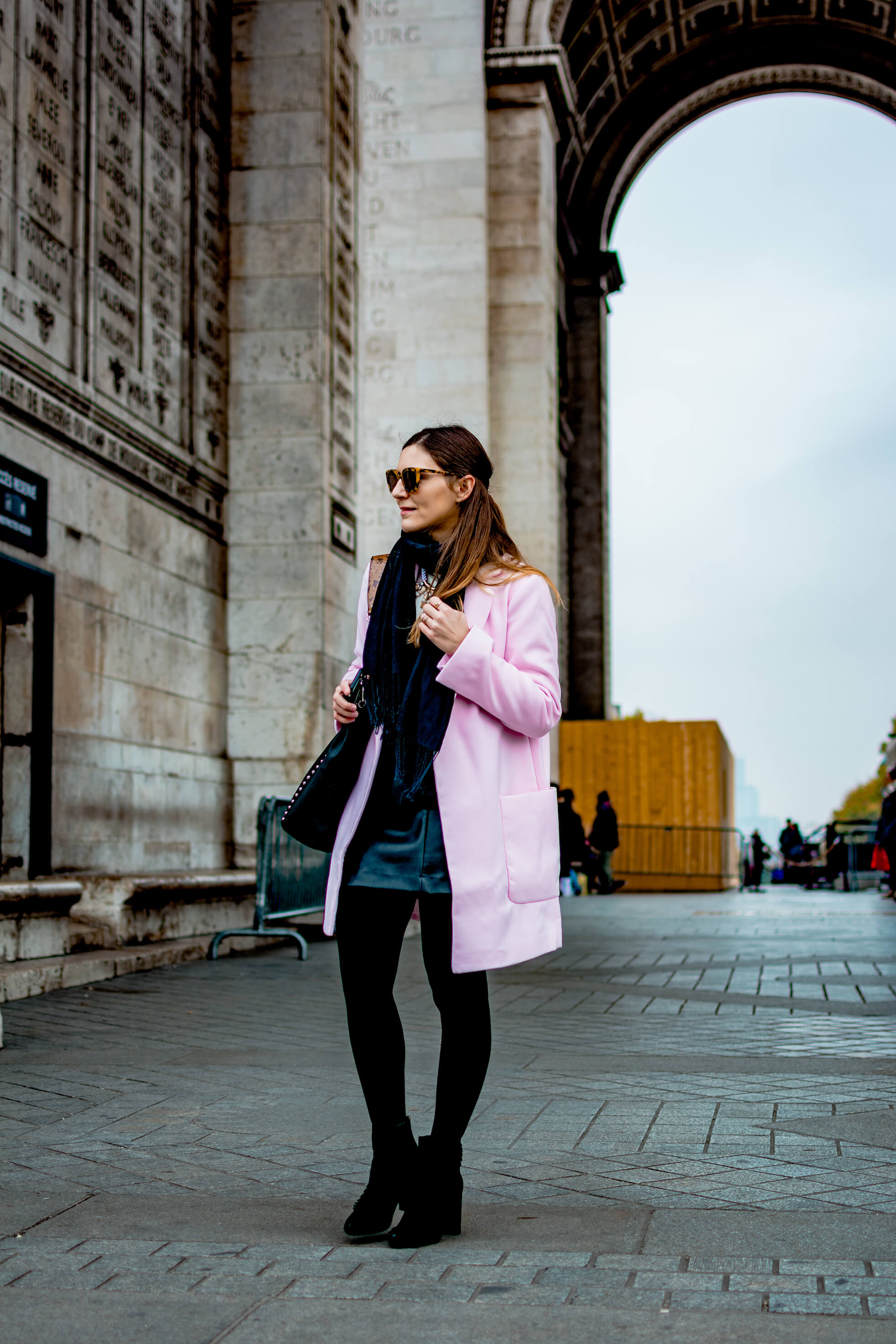 look tendance manteau rose blog mode