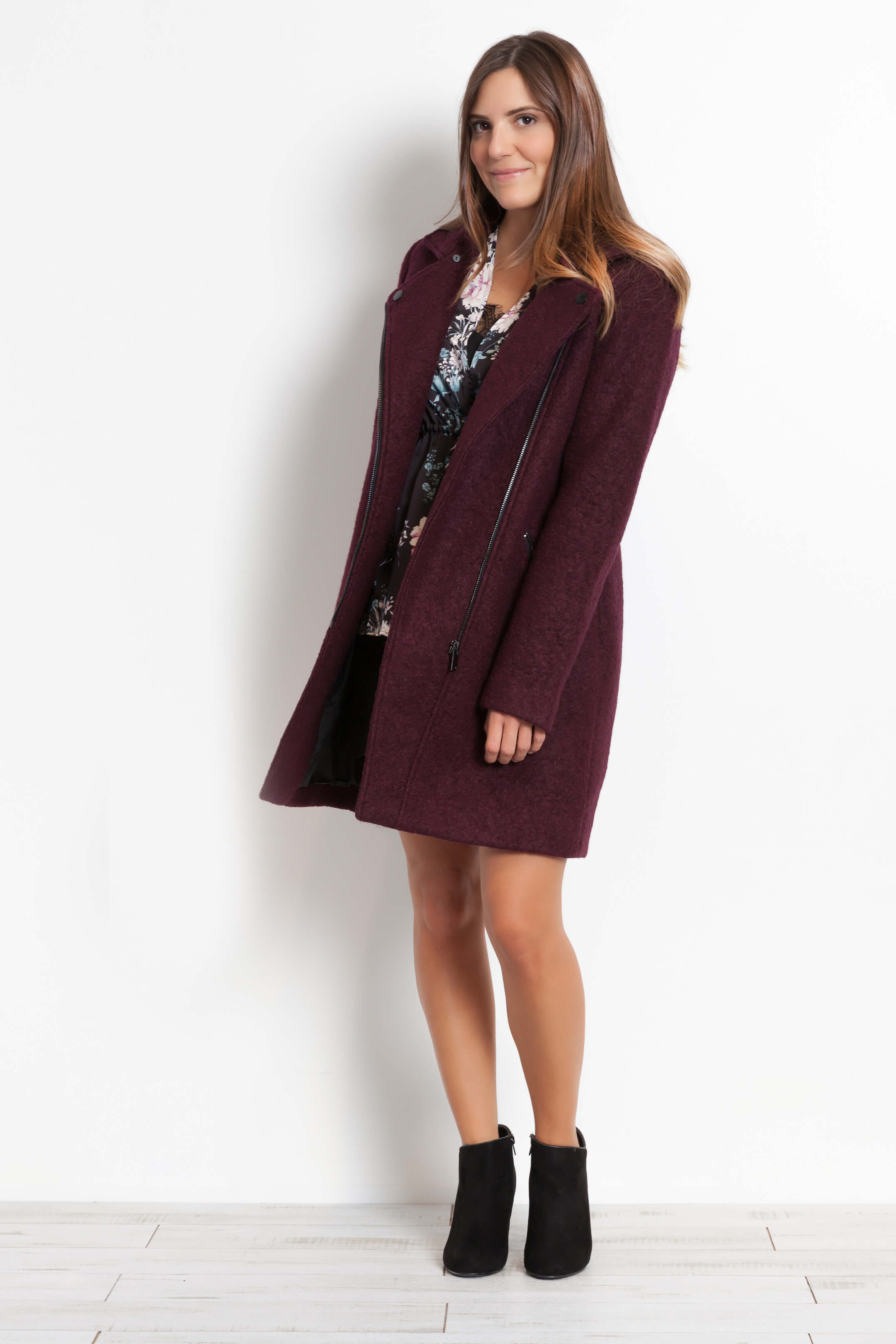 manteau tendance bordeau