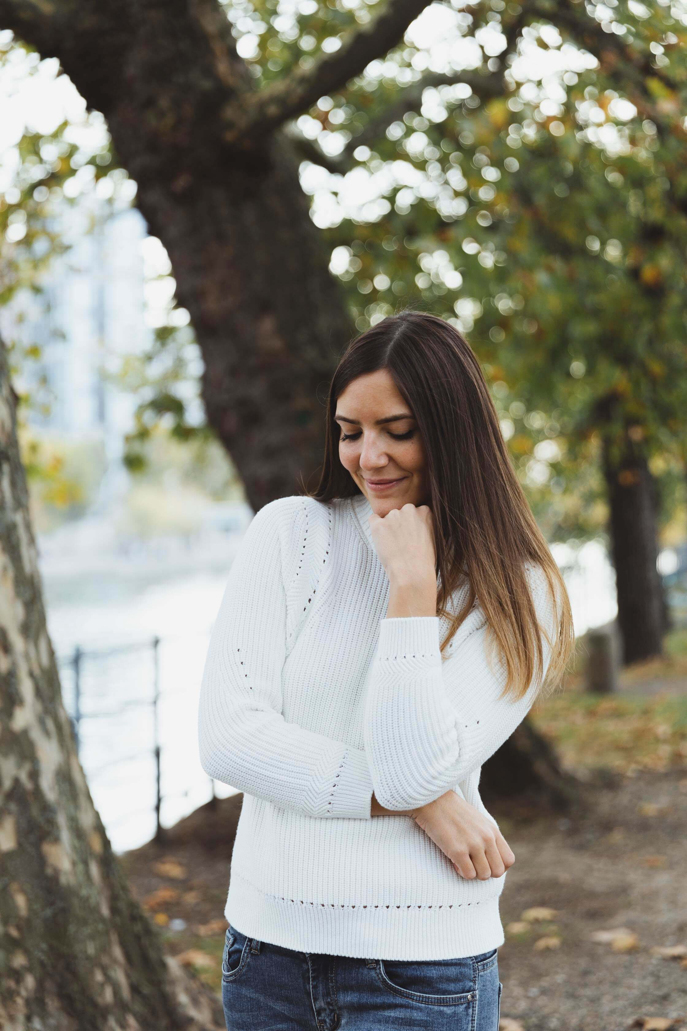 pull blanc monoprix