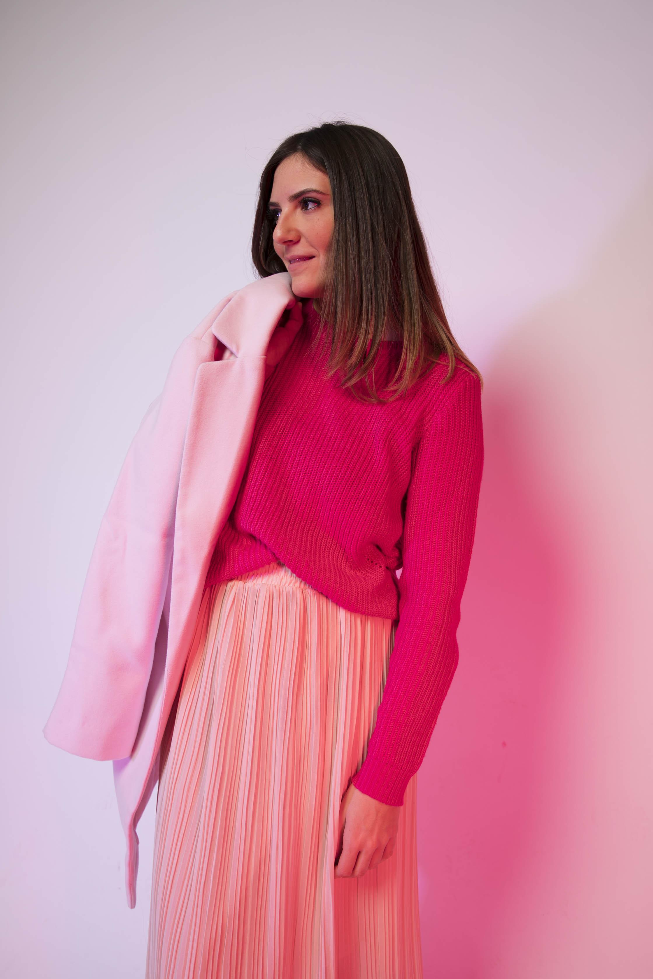 comment porter le manteau rose blog mode les caprices d iris