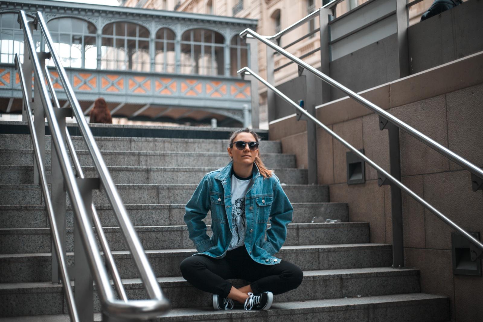 comment porter la veste en jean oversize