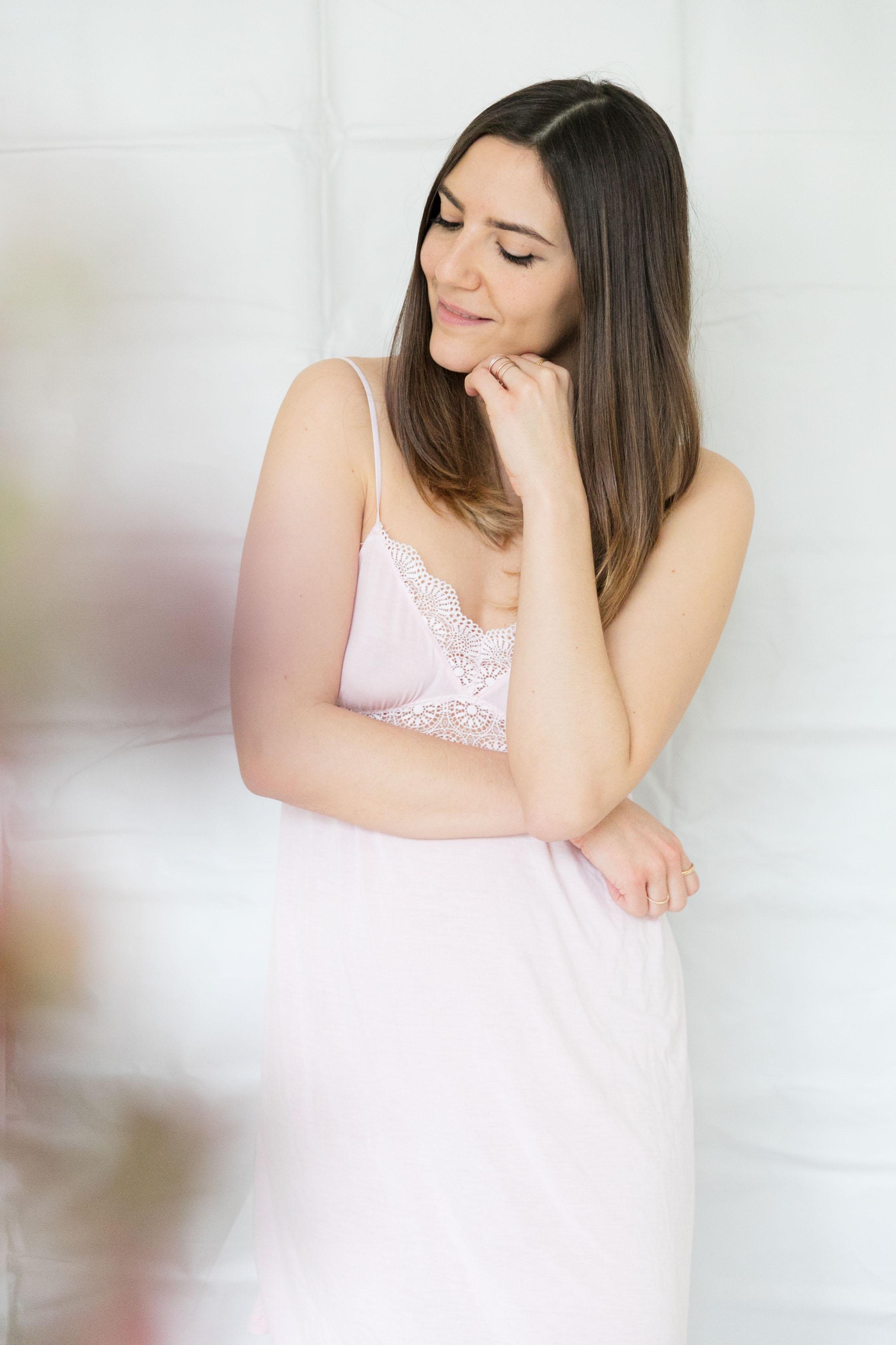 jolie chemise de nuit rose h&m