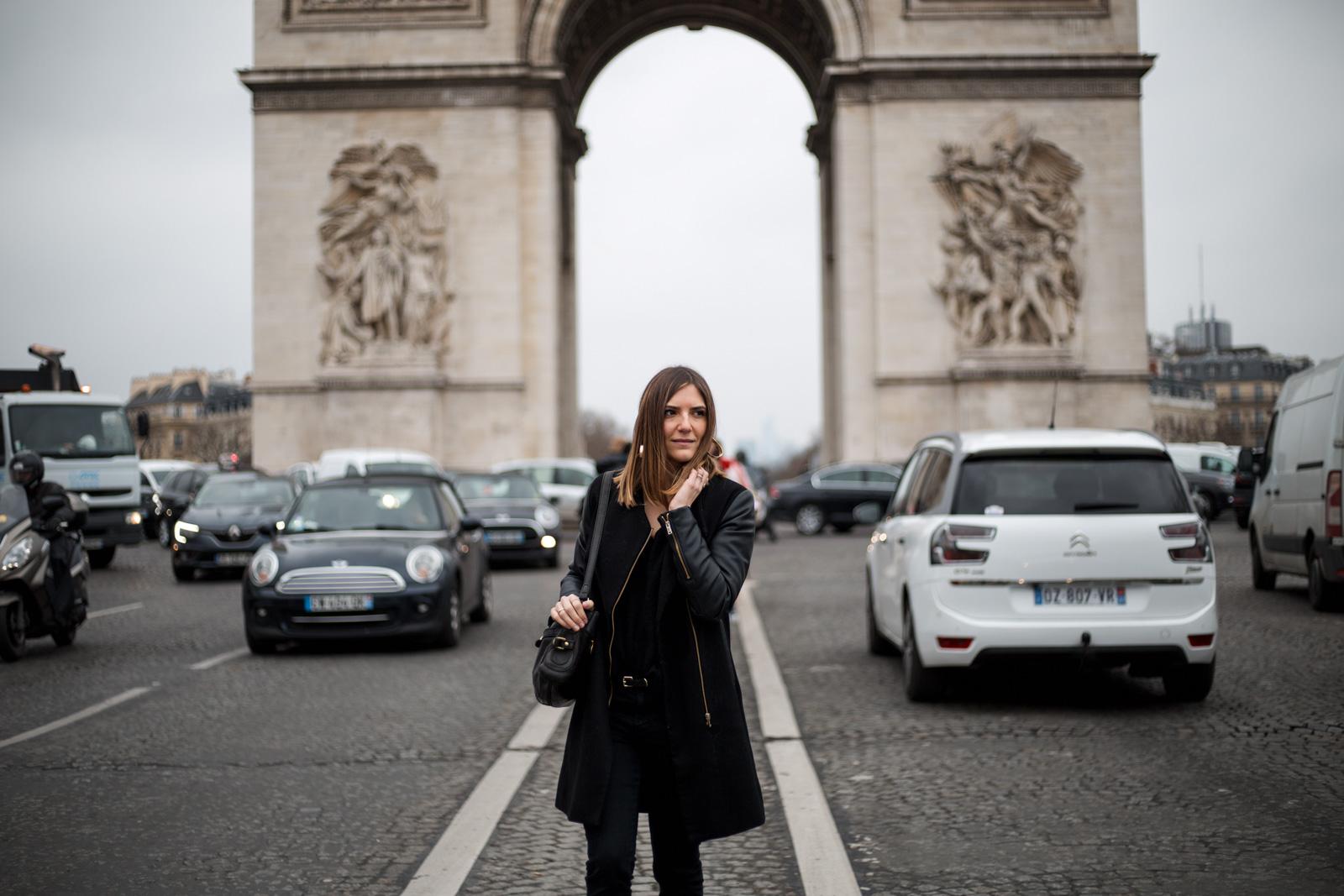 total look noir blog mode paris
