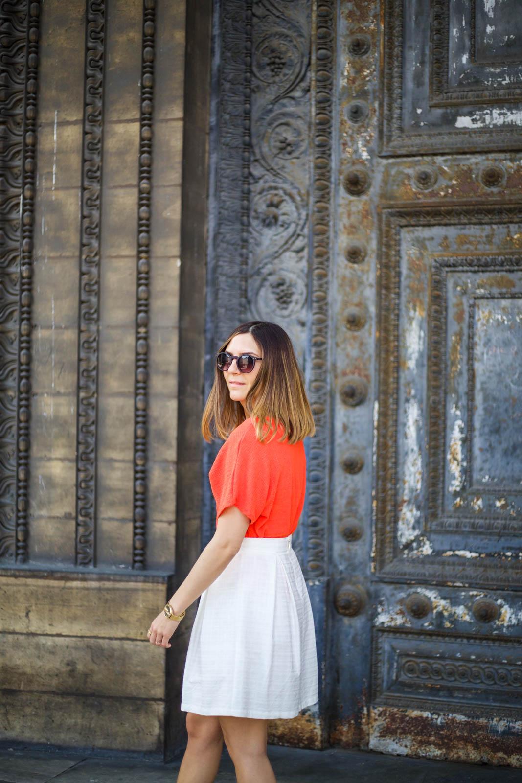 comment porter la jupe blanche