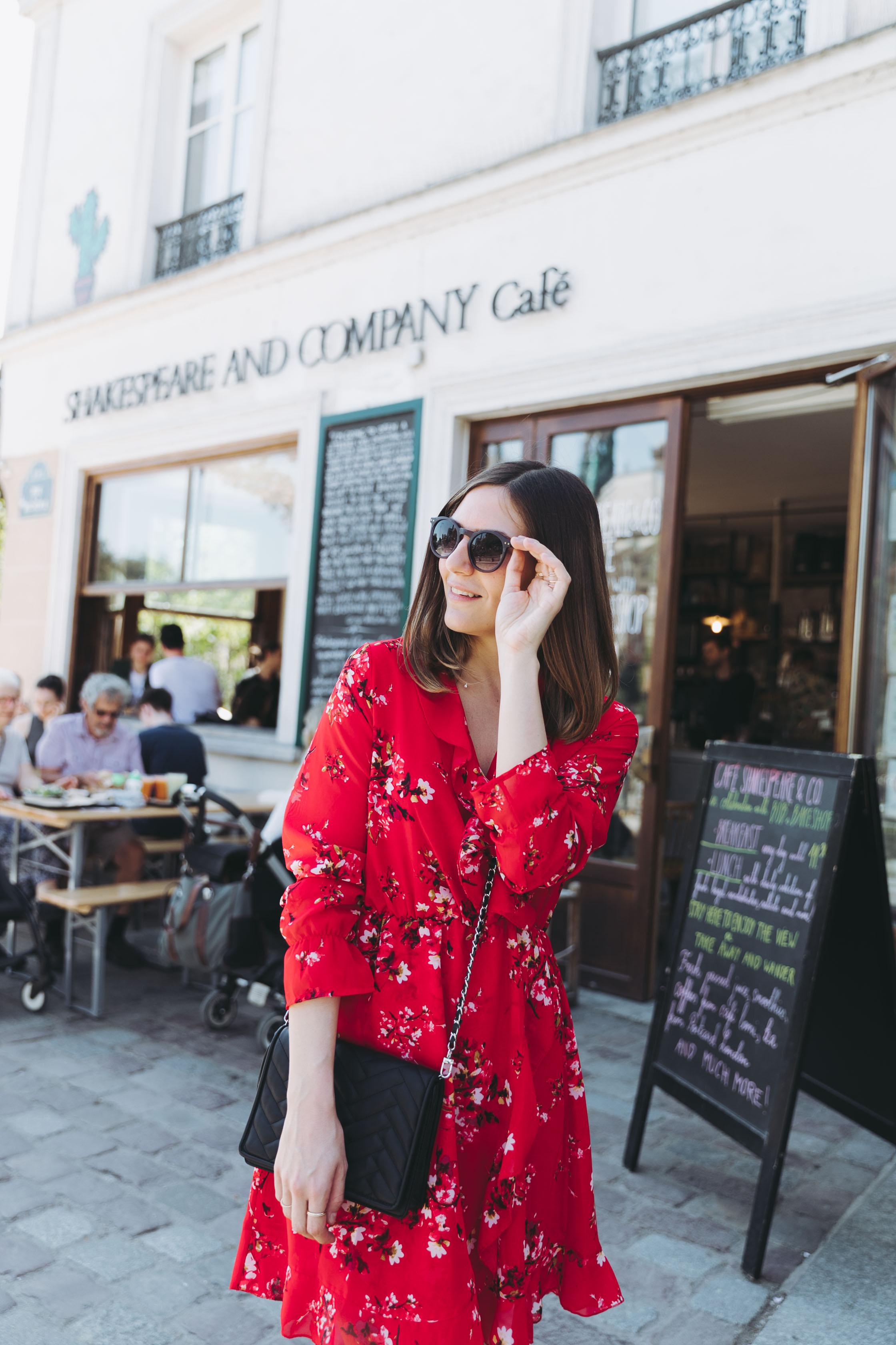 robe fleurie tendance rouge