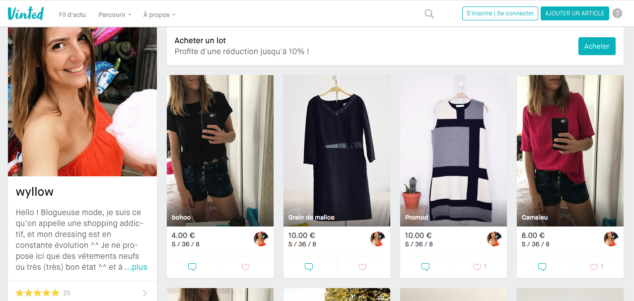 vinted blogueuse