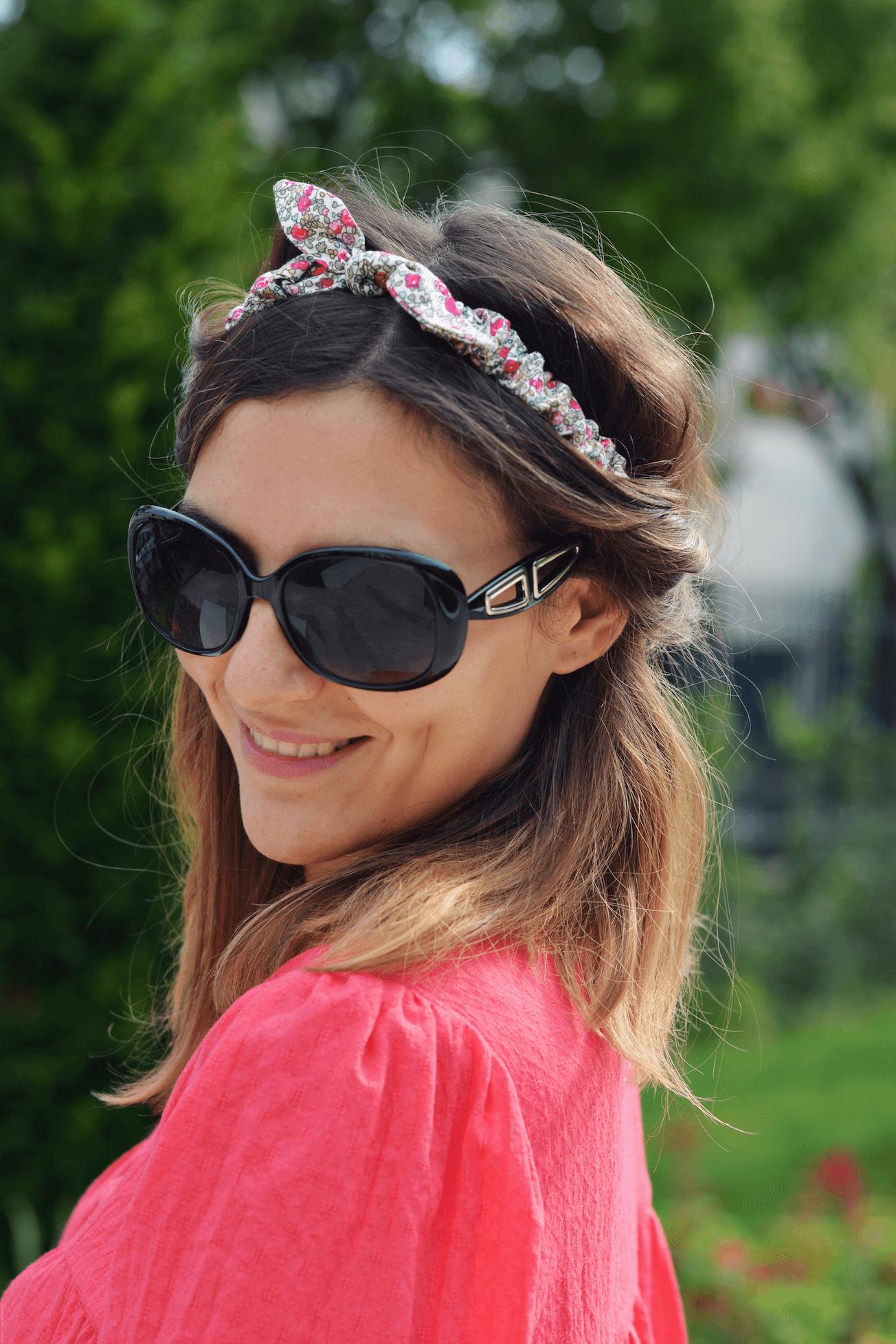 tendance headband fleuri