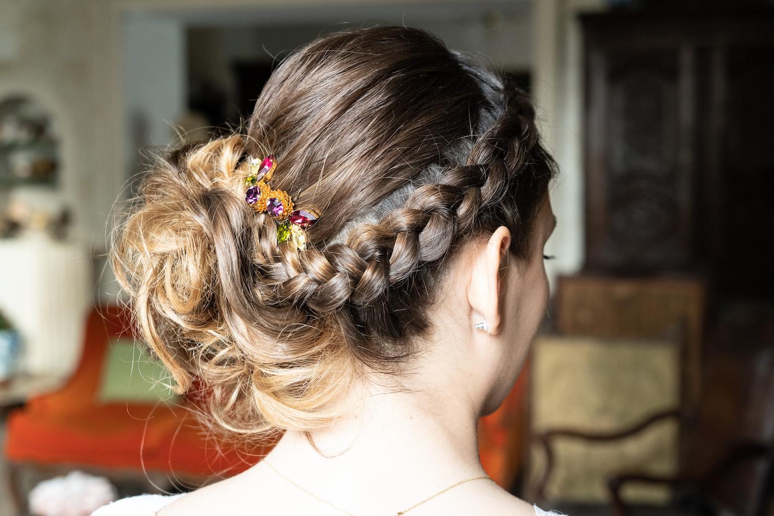 coiffure de mariage avec une tresse