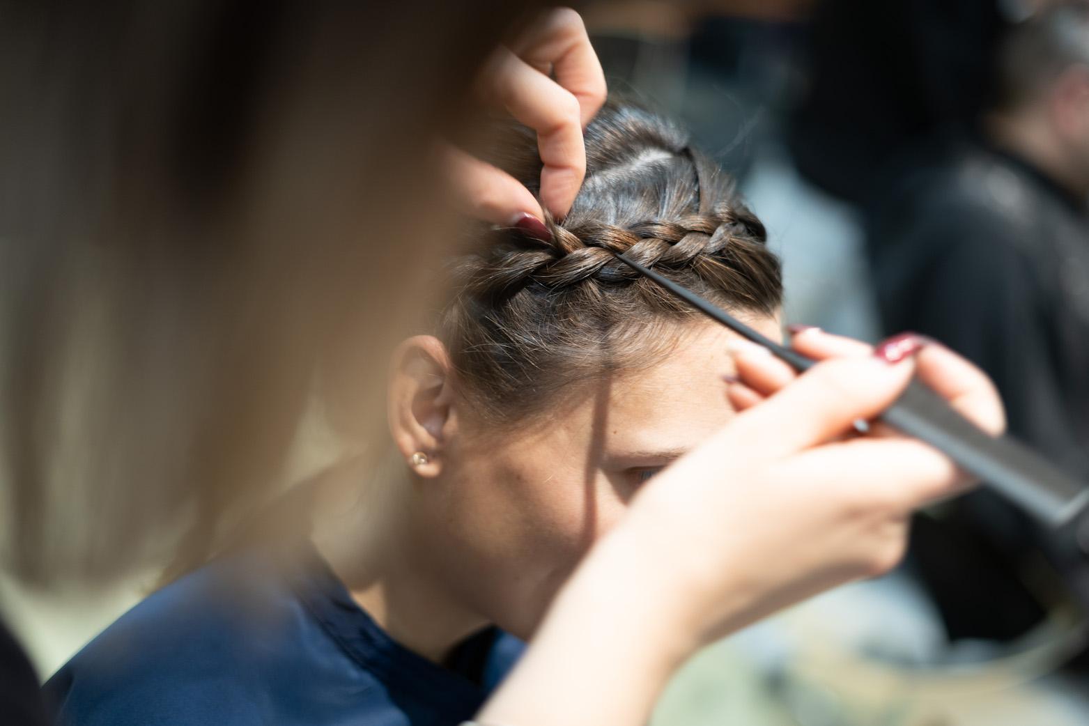 coiffure de mariee tresse