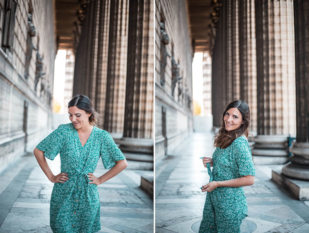 robe-verte-a-fleurs