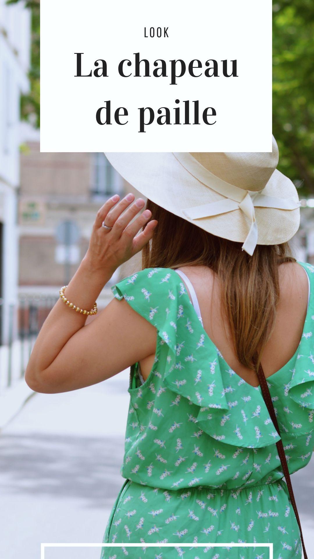 tendance chapeau de paille