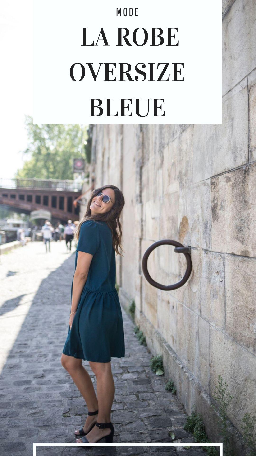 robe oversize bleue canard